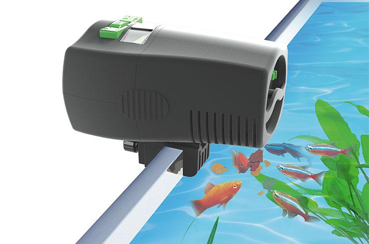 Вариант установки автоматической кормушки Tetra MyFeeder в аквариум