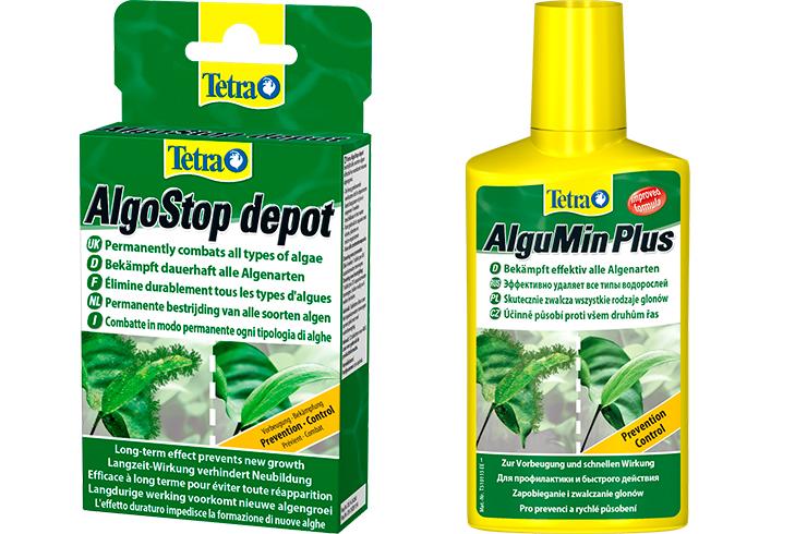 Tetra AlguMin и Tetra AlgoStop depot позволяет эффективно бороться со всеми типами водорослей