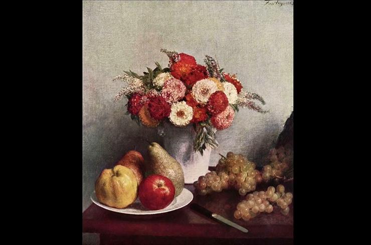 Картина А. Фантен-Латура «Цветы и фрукты» (1865)
