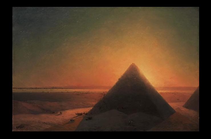 Картина И. Айвазовского «Великая пирамида в Гизе» (1878)