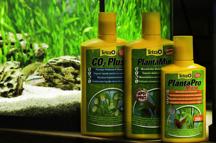 Базовый комплект препаратов Tetra для ухода за живыми растениями